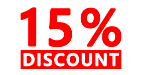 15% discount special offer
