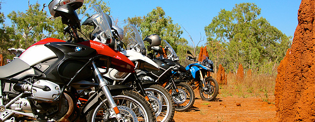 BMW bikes in the red centre