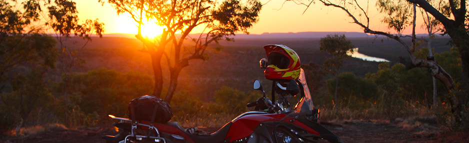 BMW F800GS sundown