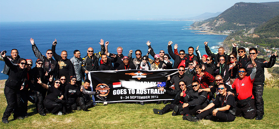 Harley Davidson tour group