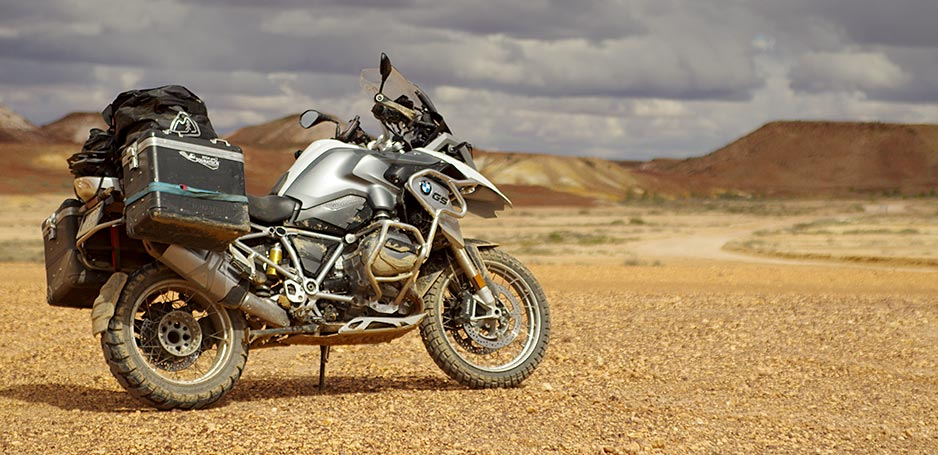 BMW R1200GSW in the Outback