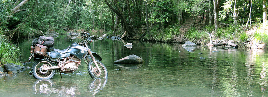 Bike in river