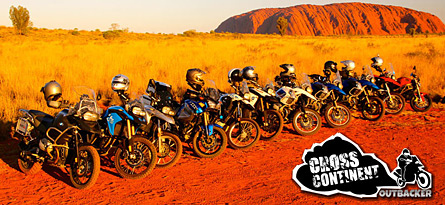 Cross Continent Outbacker guided motorbike tour