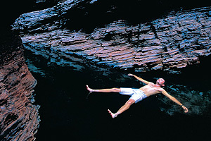 Swimming in Karijini National Park