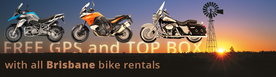 Motorbikes to hire in Brisbane